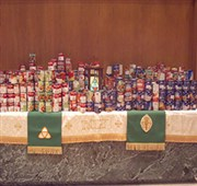 Churches' 'Souper Bowl' yields 1,000+ cans of soup for hungry